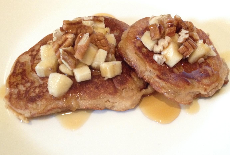 Vegan Gluten-Free Banana Pecan Pancakes