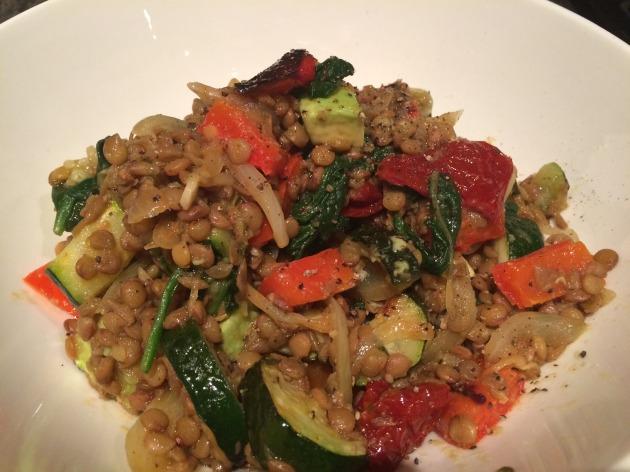 lentil veggie dish